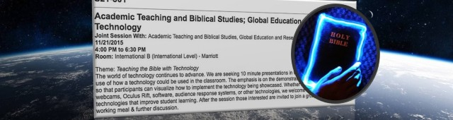 Teaching Bible with Tech at #AARSBL15